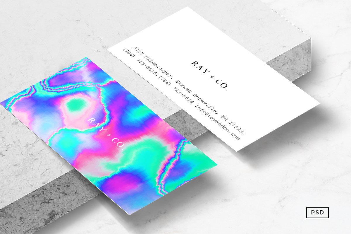 Holographic Business Cards